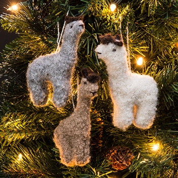 Rf530a Fuzzy Alpaca Ornament